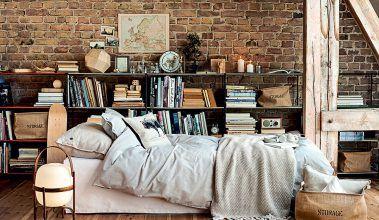 Tehlová stena vyženie nudu z interiéru