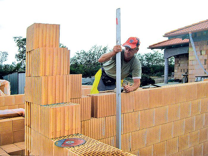 Výstavba rodinného domu z brúsených tehál