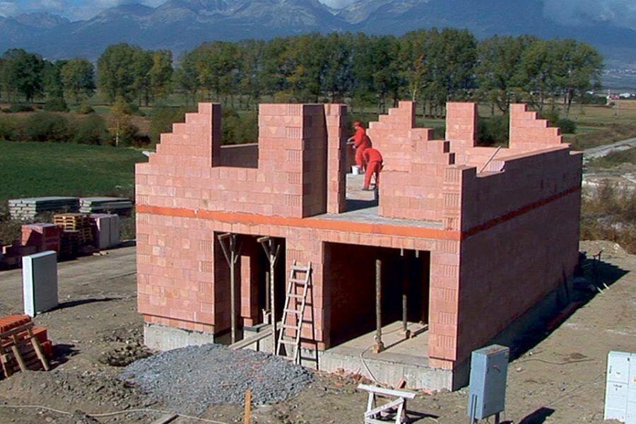 Murovanie rodinného domu z tehly