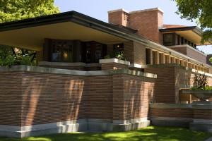 Robie house, tehlový dom F. L. Wrighta je v Chicagu.