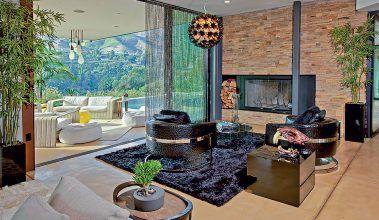 Lícová tehla v prvom dome Justina Biebera