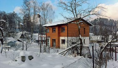 Nízkoenergetický dom v zime