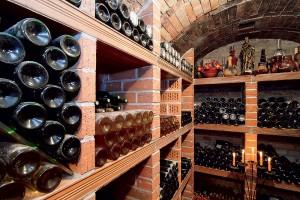 Drevené police sú vhodné do suchého prostredia, teda nie do klasickej pivnice. Sem patria úložné police na víno vymurované z keramiky, ktorá vlhkosť prirodzene vstrebáva a zase ju aj uvoľňuje.