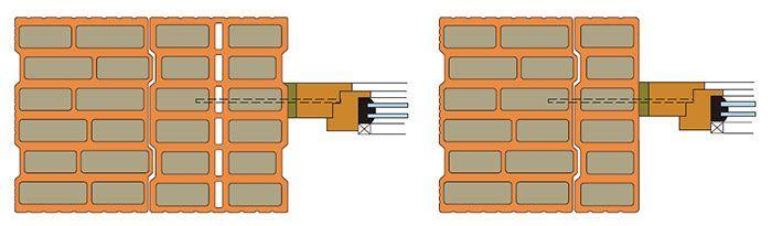 Dĺžku skrutky treba voliť tak, aby prechádzala cez tri keramické rebrá.