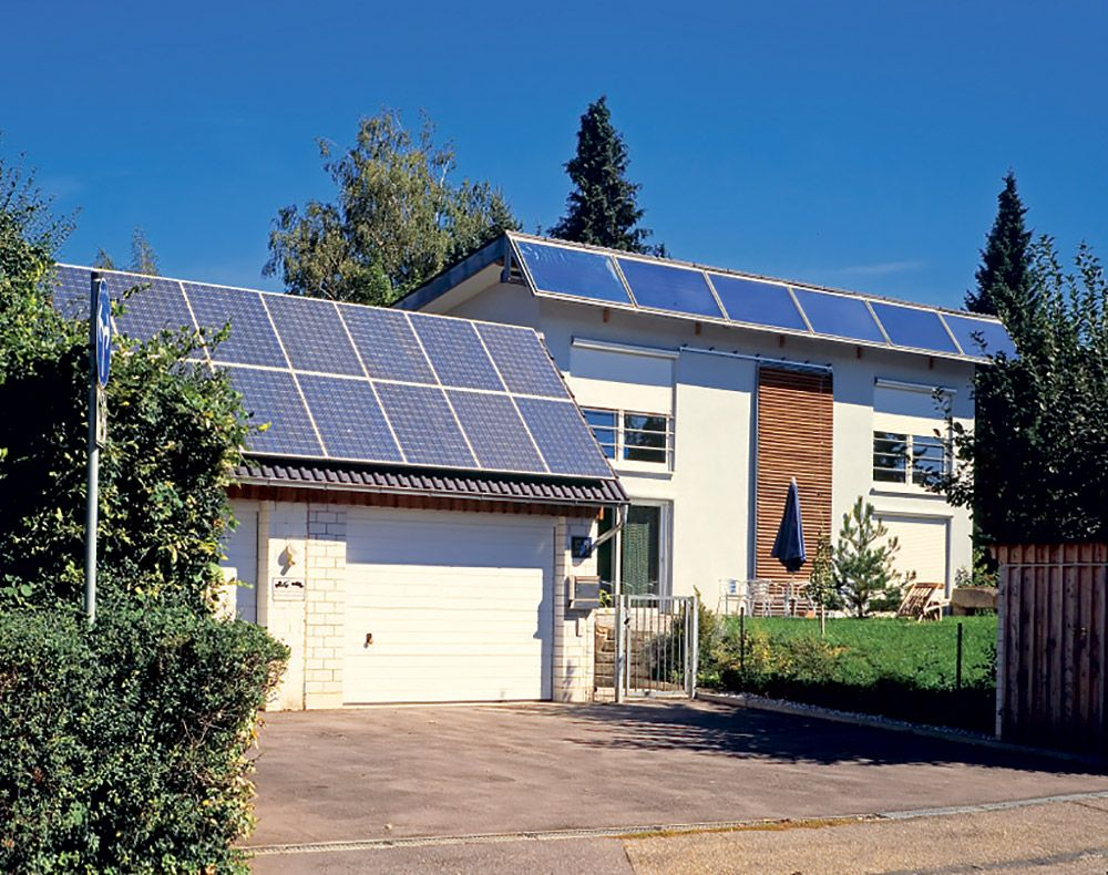 Nízkoeenegetický rodinný dom so solárnymi panelmi