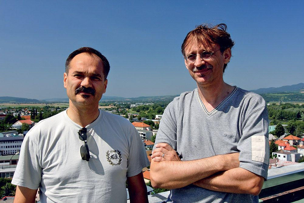 Ing. Peter Giga a Ing. arch. Juraj Šinka z architektonického ateliéru Neodomus.