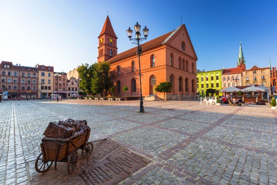 Mesto Toruň v Poľsku, rodisko Mikuláša Kopernika.
