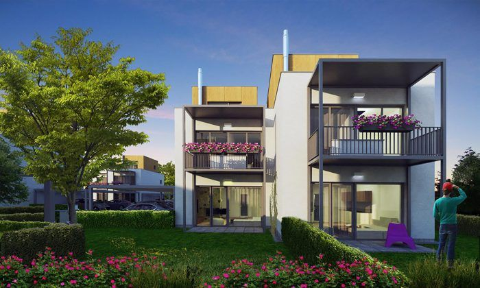 Radové rodinné domy z architektonickej kancelárie Rules.