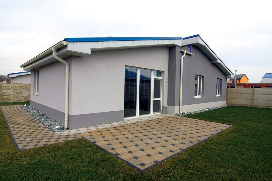 Nízkoenergetický bungalov postavený z tehly