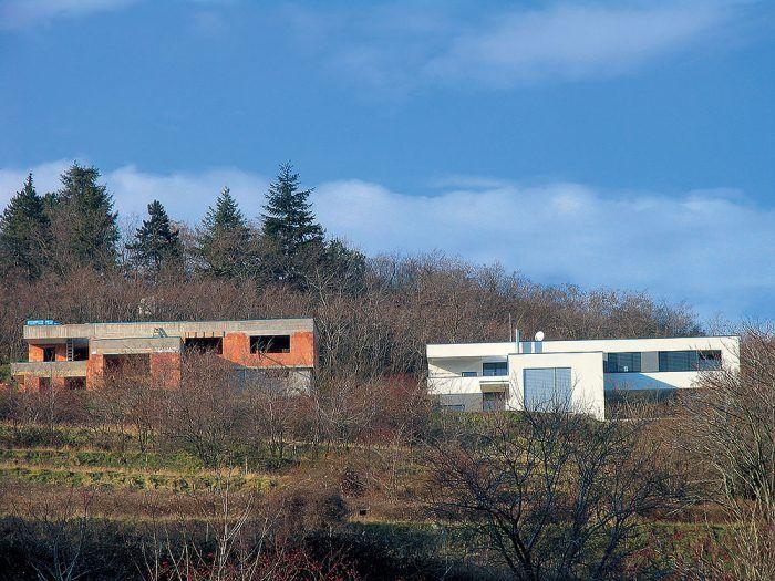 Tehlový dom, hrubá stavba