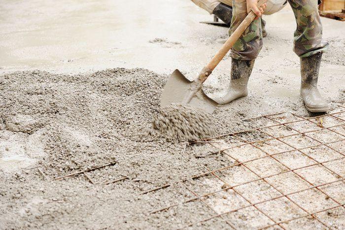Kari sieť zalievaná betónom