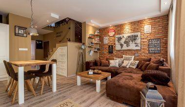 Tehlové steny spravili z bytu výnimočný priestor