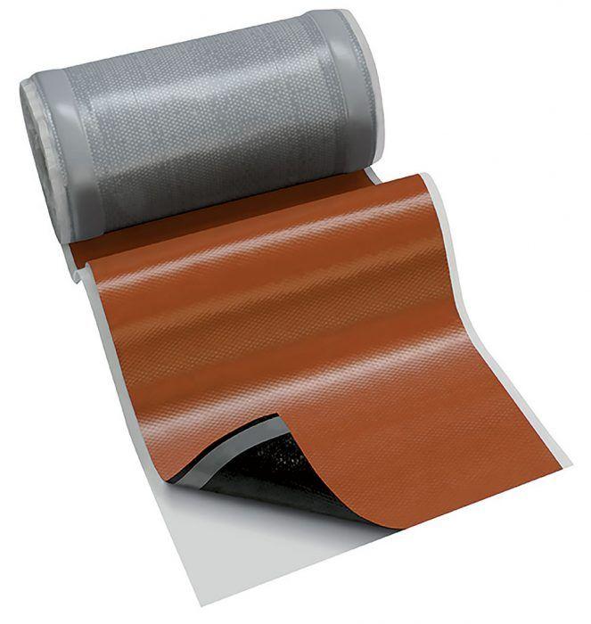 Vysokopružný tesniaci pás určený na utesnenie priestupu komína cez krytinu, prestupujúcich stavebných dielov, napojení krytiny na steny, ako aj na utesnenie vikierov a ostatných strešných detailov. Je vyrobený z polyizobutylénu (PIB), má hliníkovú výstužnú mriežku z ťahokovu a postranné butylové lepiace pásy. Ľahko tvarovateľný a vhodný na ploché aj profilované krytiny s vysokou vlnou. Samozvariteľný povrch, dva butylové lepiace pásy, rozťažnosť v oboch smeroch, odolný proti poveternostným vplyvom.