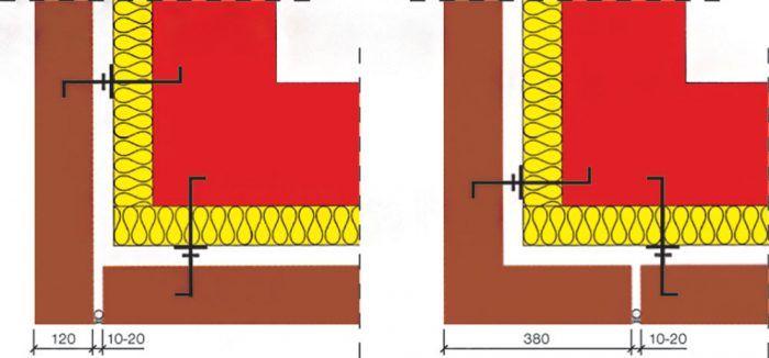 Zvislé dilatačné škáry prenášajú vodorovné dilatačné pohyby fasády tak, aby v nej nevznikali trhliny.