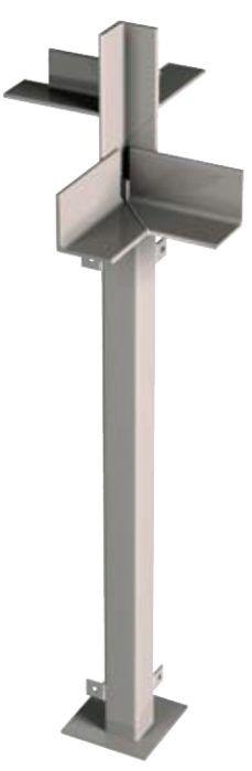 Na obvyklé zaťaženia pri rodinných domoch stačí subtílny oceľový stĺpik so štvorcovým prierezom z profilu 80/80/8 mm