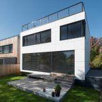 Strechy oboch domov slúžia ako veľkorysé terasy so skvelým výhľadom.