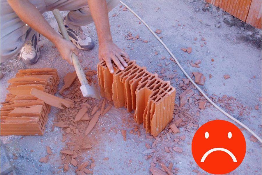 Najčastejšie omyly murárov: Úprava rozmerov tehál