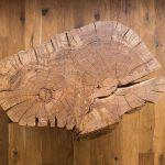 Masívny stolík z konára 300-ročného duba je od Jakuba Rybára – mladá dvojica si bola priamo v Lozorne vybrať kus, ktorý sa im páčil.