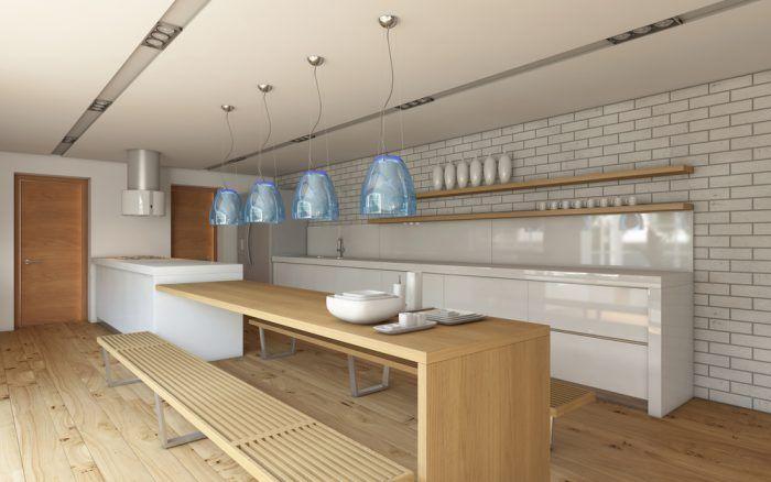 Rovné línie, striedme farby, minimalistický dizajn – tak vyzerá moderná kuchyňa.