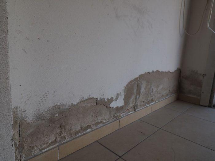 """2. Vzlínajúca vlhkosť sa začína prejavovať vlhkými """"mapami"""" na stenách, neskôr sa začne vydúvať a olupovať omietka, objavia sa soli, huby, plesne."""