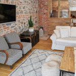 obývačka s Vintage style nábytkom
