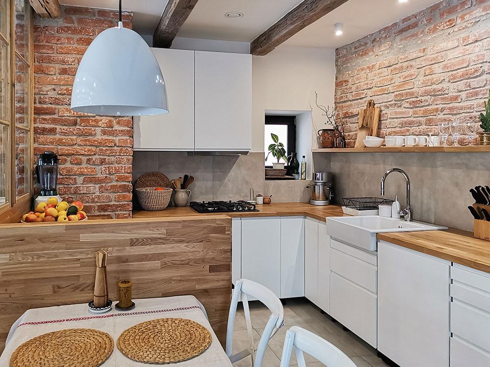 tehlová kuchyňa