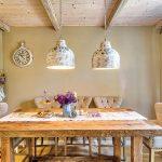 vintage kuchyňa, masívny stôl