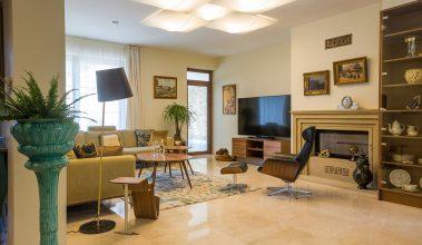 priestranná obývačka
