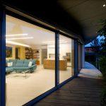 Najväčšiu dynamiku zaoblenia dosahuje oblúk v obývacej izbe.