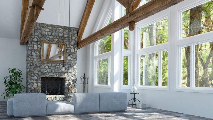 veľké presklené okná