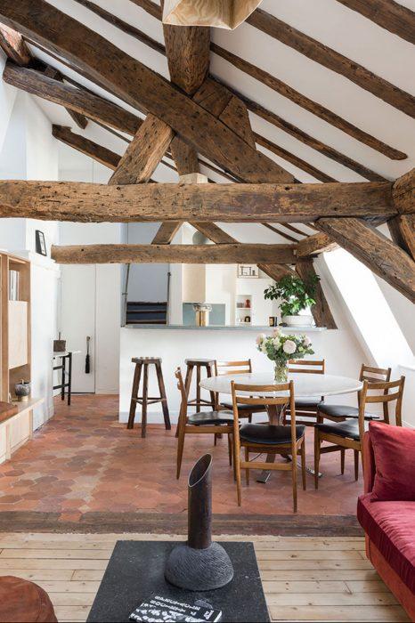 drevený strop