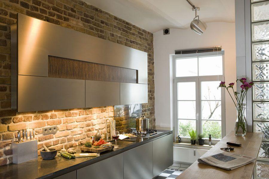 moderná tehlová stena