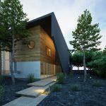 atypicky drevený dom