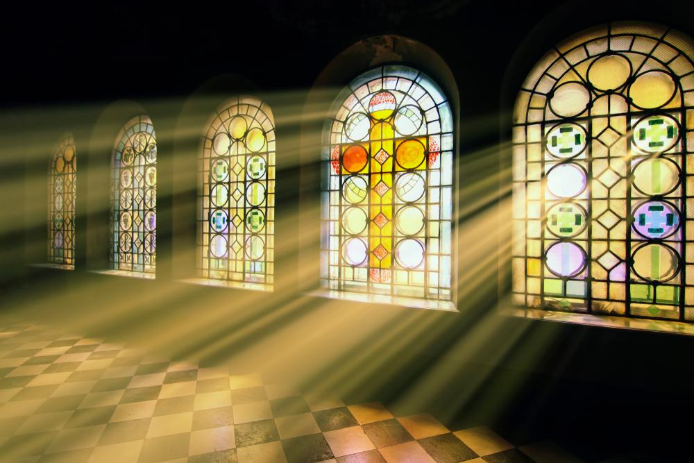 svetlo v kostole