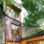 rodinný dom medzi stromami