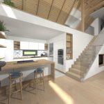 dom z tehly - vizualizácia interiéru